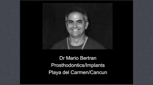 Dr Mario Bertran - Professor of Dental Anatomy
